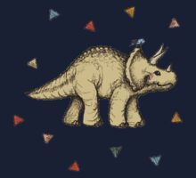 Triceratops & Triangles One Piece - Short Sleeve