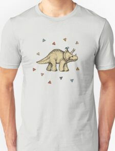 Triceratops & Triangles Unisex T-Shirt