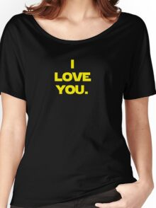 I love you. I know. (I love you version) Women's Relaxed Fit T-Shirt