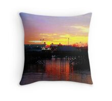 Broadway Sunset, Myrtle Beach, SC Throw Pillow