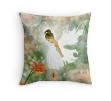 Flower angel Throw Pillow