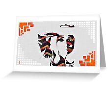 Natalie Imbruglia Design, classic 90s pop/indie star (TORN) ©peewiedesigns Greeting Card