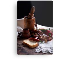 Still life with pepper Metal Print
