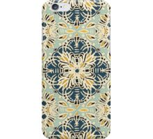 Protea Pattern in Deep Teal, Cream, Sage Green & Yellow Ochre iPhone Case/Skin