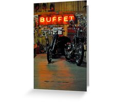 the buffet Greeting Card