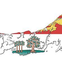 Prince Edward Island Flag Map  by abbeyz71