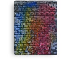 Brick textured wall on canvas ready for graffiti. Canvas Print
