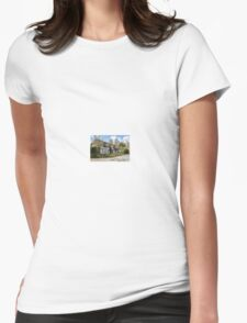 Quaint English Thatched Cottage Womens Fitted T-Shirt