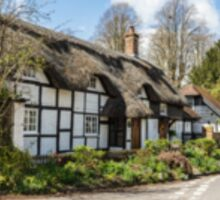 Quaint English Thatched Cottage Sticker