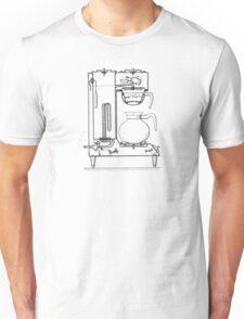 Half & half black Unisex T-Shirt