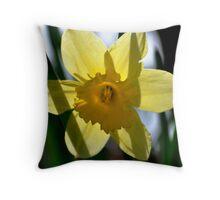 Daffodil Transparent Throw Pillow