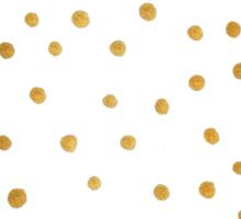 Gold Snowstorm on Wood Sticker