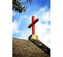 Cross Church Roof Photographic Print
