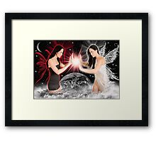 good vrs. eveil Framed Print