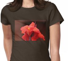 Red Canna Lilies Womens Fitted T-Shirt