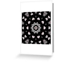 Hearts Kaleidoscope Greeting Card
