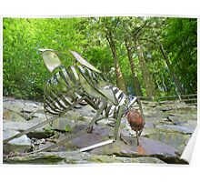The Lake District: Grizedale Forest Sculptures Series - Fly & Spider Poster
