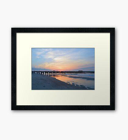 Morning At The Pier Framed Print
