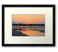 Morning Pier Framed Print