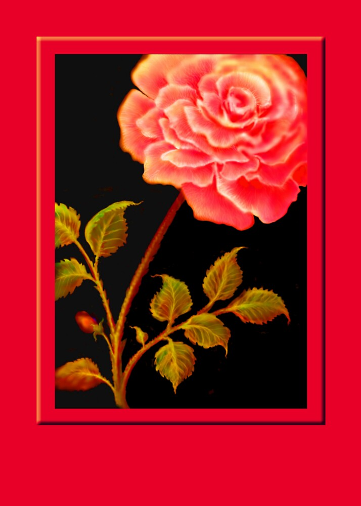 'FANDANGO ROSE' Digital Painting by luvapples downunder/ Norval Arbogast