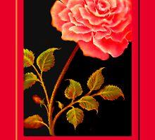 'FANDANGO ROSE' Digital Painting by luvapples downunder/ Norval Arbogast