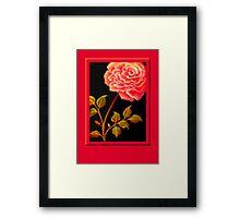 'FANDANGO ROSE' Digital Painting Framed Print