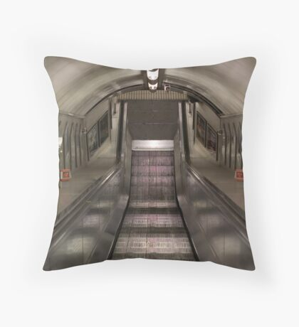 Pedestrian Tunnel Throw Pillow