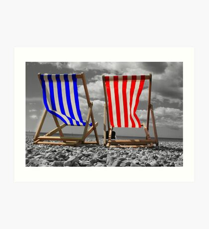 Deck Chairs Art Print