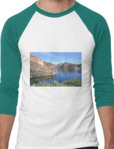Blue Waters in the Desert Men's Baseball ¾ T-Shirt