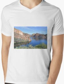 Blue Waters in the Desert Mens V-Neck T-Shirt