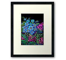 'Fondest Memories of Mother', Digital Painting of Wild Flowers Framed Print