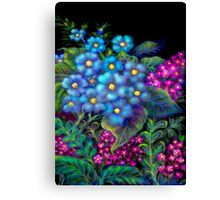 'Fondest Memories of Mother', Digital Painting of Wild Flowers Canvas Print