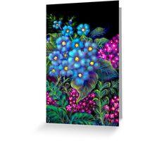 'Fondest Memories of Mother', Digital Painting of Wild Flowers Greeting Card