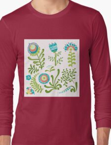 Elegance Seamless pattern with flowers, vector floral illustration in vintage style Long Sleeve T-Shirt