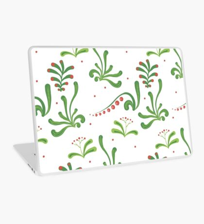 Elegance Seamless pattern with flowers, vector floral illustration in vintage style Laptop Skin