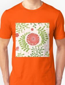 Elegance Seamless pattern with flowers, vector floral illustration in vintage style Unisex T-Shirt
