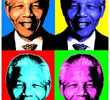 NELSON MANDELA-POP ART by OTIS PORRITT