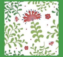 Elegance Seamless pattern with flowers, vector floral illustration in vintage style One Piece - Short Sleeve