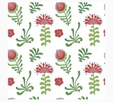 Elegance Seamless pattern with flowers, vector floral illustration in vintage style One Piece - Long Sleeve