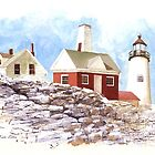 Maine Lighthouse by Kate Eller