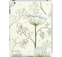 Elegance Seamless pattern with flowers, vector floral illustration in vintage style, Ukraine, dill iPad Case/Skin
