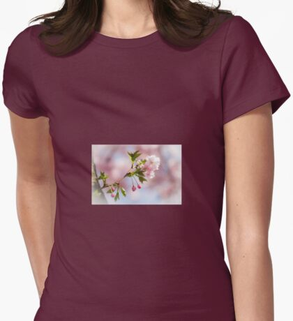 The Cherry Blossom Tree Womens Fitted T-Shirt