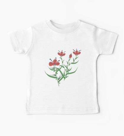 Set of symmetrical floral graphic design elements Baby Tee