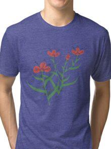 Set of symmetrical floral graphic design elements Tri-blend T-Shirt