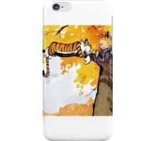 sleeping calvin and hobbes iPhone Case/Skin