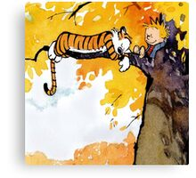 sleeping calvin and hobbes Canvas Print