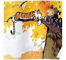 sleeping calvin and hobbes Poster