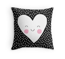 Happy Heart Throw Pillow
