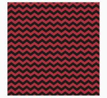 Chevron pattern in red and black. Kids Clothes