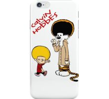 afro calvin and hobes iPhone Case/Skin